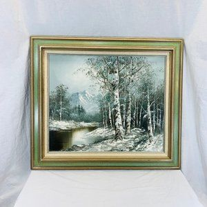 Vintage Landscape Oil Painting On Canvas